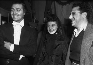 David O.Selznick with the stars of Gone With the Wind, Clark Gable and Vivian Leigh.