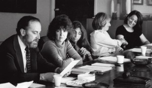 Gil Cates, Nell Cox, Lynne Littman, Susan Bay, and Dolores Ferraro in 1980.