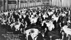 The first Academy Awards banquet. Not exactly a rainbow coalition.